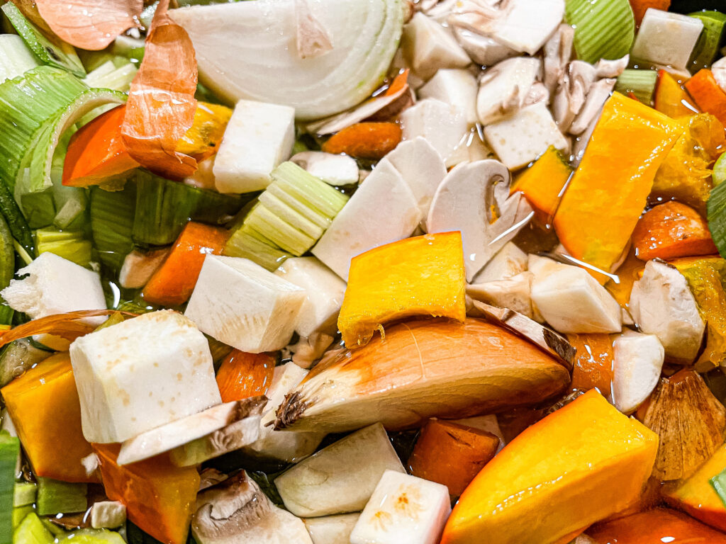 Zutaten für die Fasten Brühe im Slow Cooker